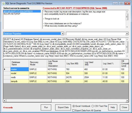 SQL Server Diagnostic Tool