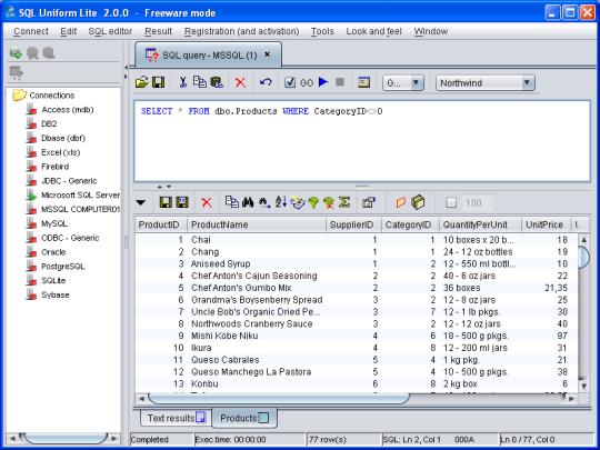 SQL Uniform Lite