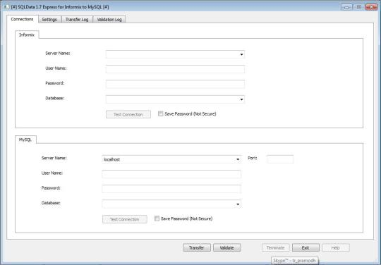 SQLData Express for Informix to MySQL