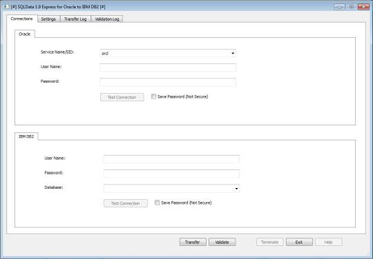 SQLData Express for Oracle to IBM DB2