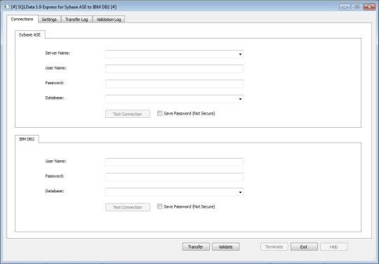 SQLData Express for Sybase ASE to IBM DB2