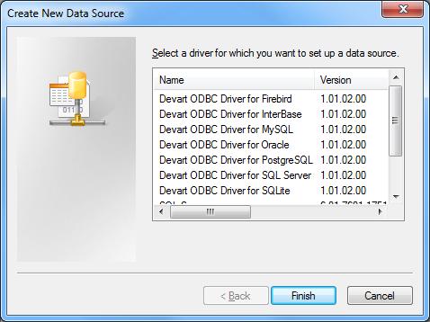SQLite ODBC driver (32/64 bit)