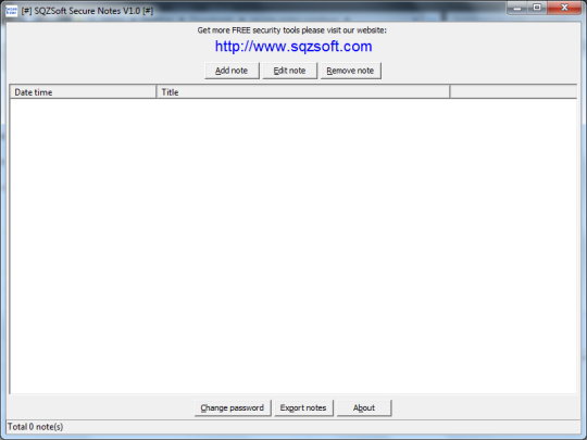 SQZSoft Secure Notes