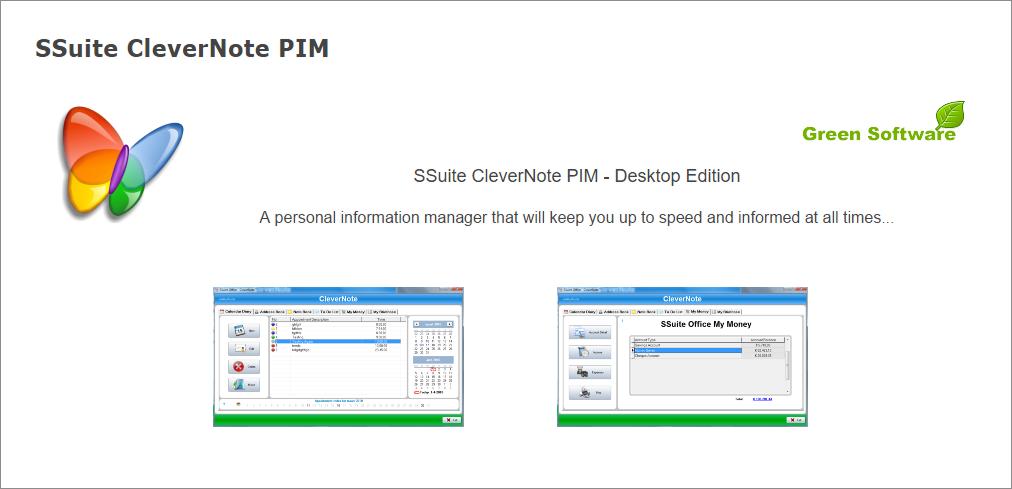 SSuite CleverNote PIM Portable