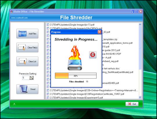 SSuite File Shredder