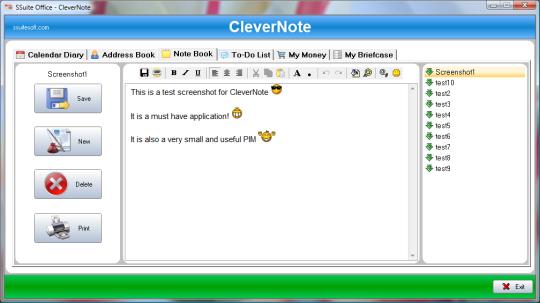 SSuite Office - CleverNote PIM