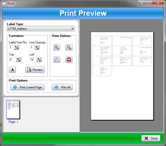 SSuite Office - Label Printer