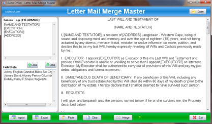 SSuite Office - Mail Merge Master