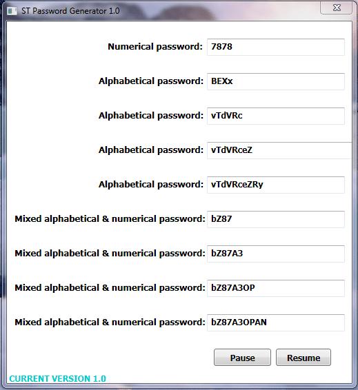 ST Password Generator