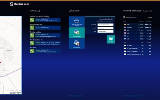 Standard Bank Mobile Banking for Windows 8