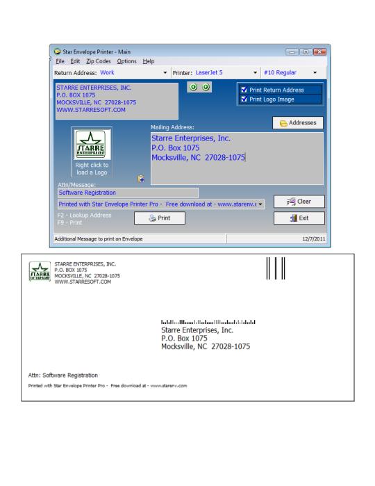 Star Envelope Printer Pro