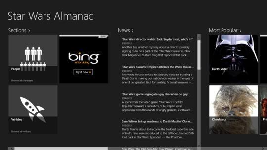 Star Wars Almanac for Windows 8