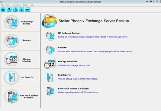 Stellar Phoenix Exchange Server Backup