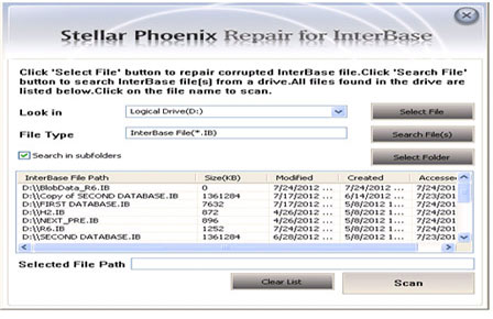 Stellar Phoenix Repair for Interbase