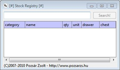 Stock Registry Portable