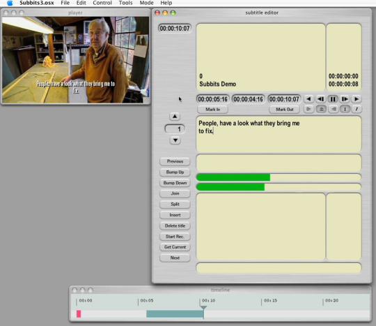 SubBits subtitler