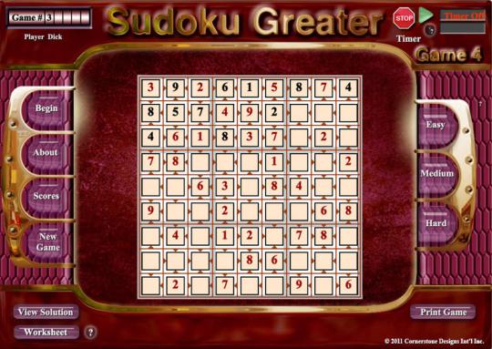 Sudoku Greater