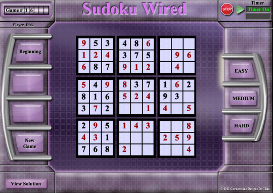 Sudoku Wired Game 1