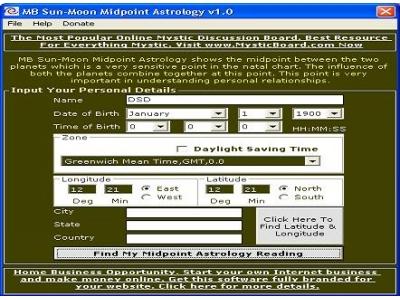 Sun Moon Midpoint Astrology