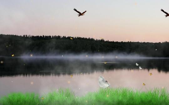 Sunset River Screensaver