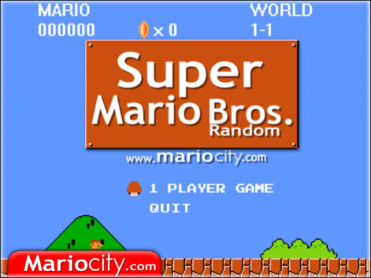 Super Mario Bros Random