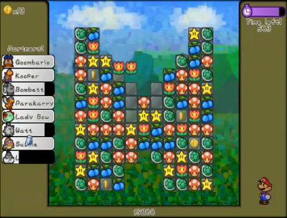 Super Mario Paper Puzzle Game