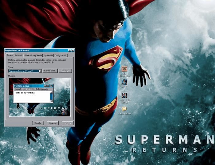 Superman Returns Desktop Theme