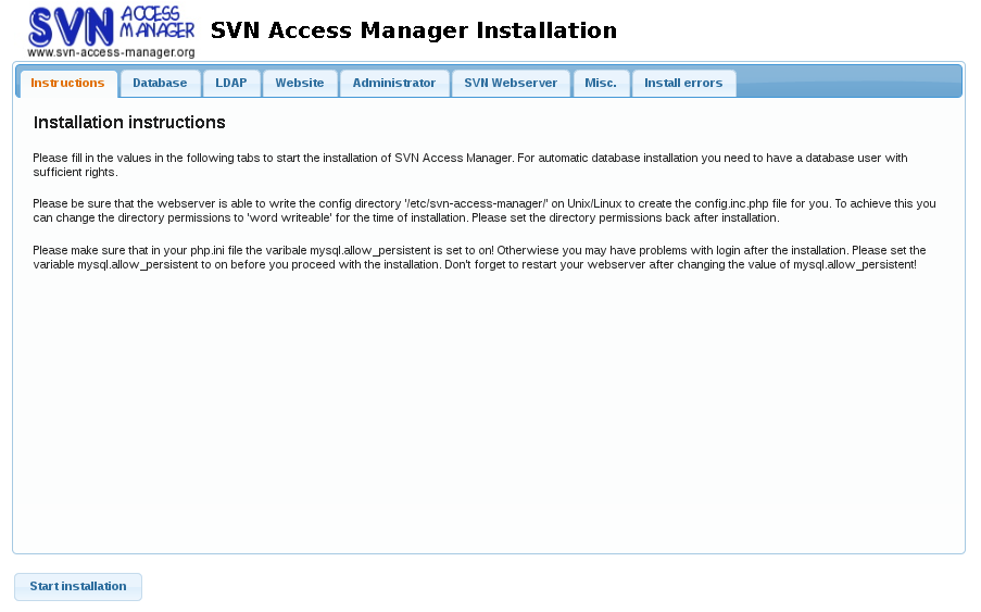 SVN Access Manager