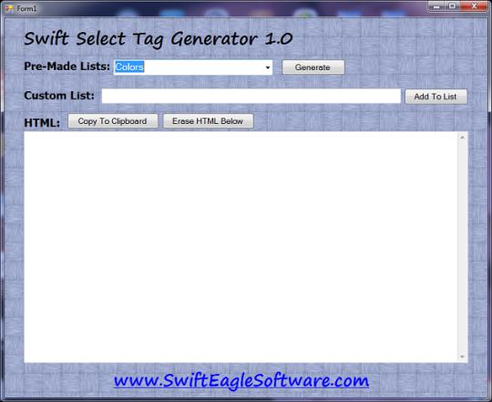 Swift Select Tag Generator