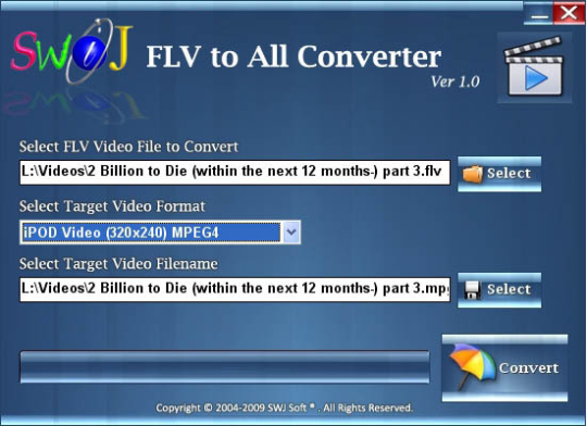 SWiJ FLV to All Converter