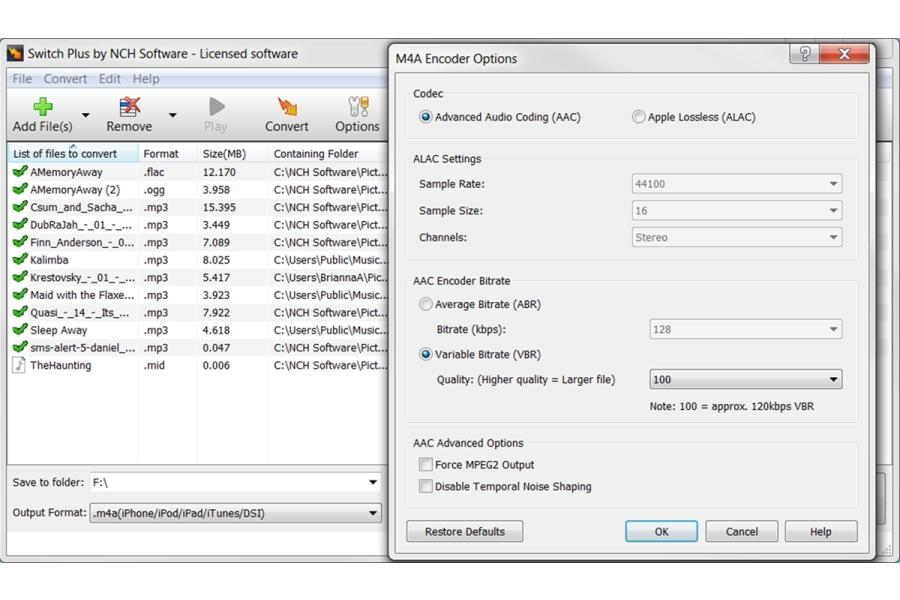 Switch Free Audio and Mp3 Converter