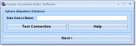 Sybase iAnywhere Editor Software
