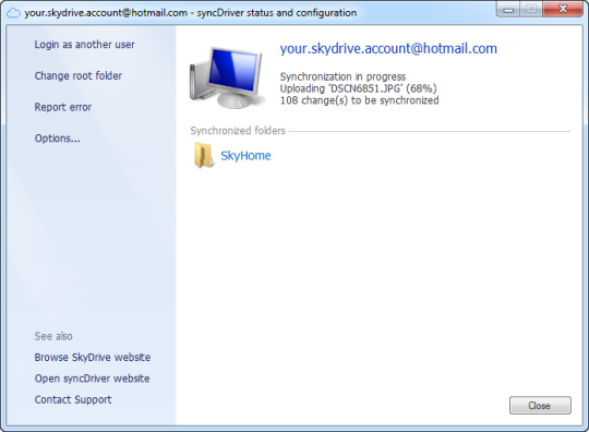 SyncDriver for OneDrive