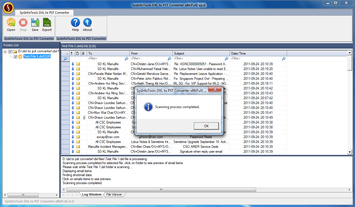 SysInfoTools DXL to PST Converter