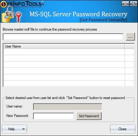 SysInfoTools MS SQL Server Password Recovery