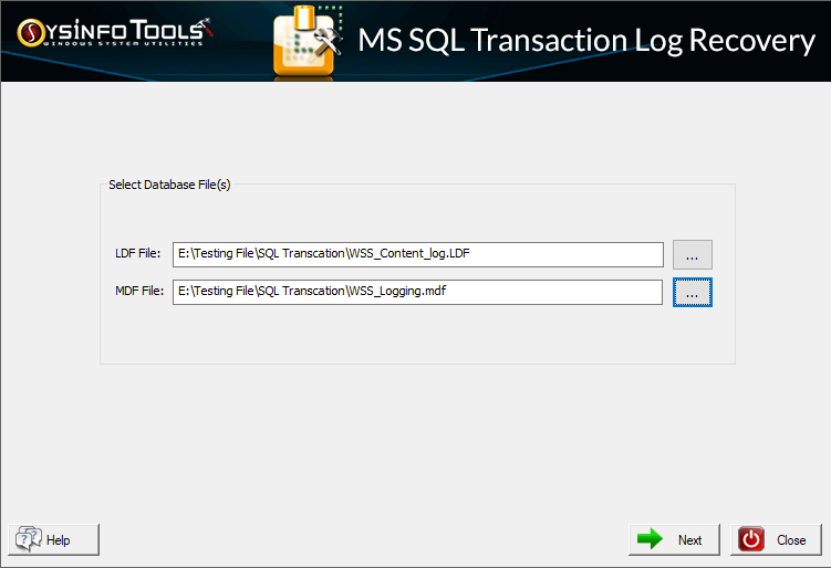 SysInfoTools MS SQL Transaction Log Recovery