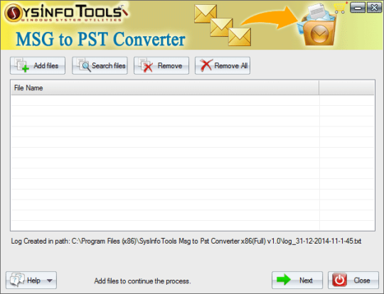 SysInfoTools MSG to PST Converter