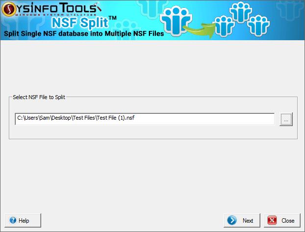 SysInfoTools NSF Split