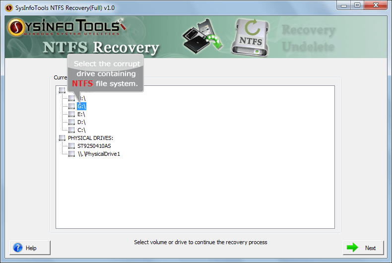 SysInfoTools NTFS Recovery
