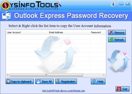 SysInfoTools Outlook Express Password Recovery