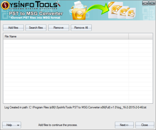 SysInfoTools PST to MSG Converter