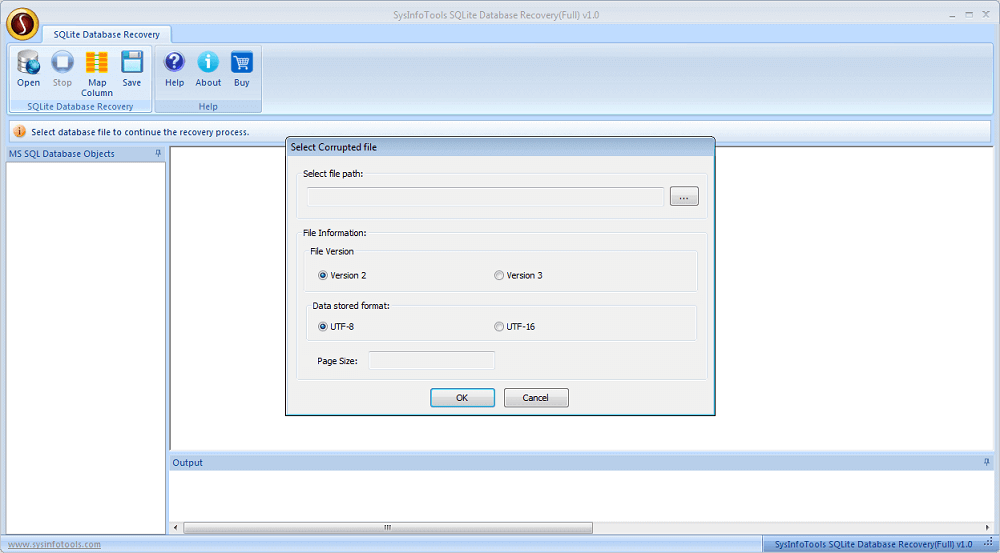 SysInfoTools SQLite Database Recovery