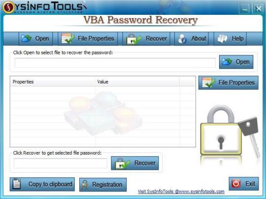 SysInfoTools VBA Password Recovery