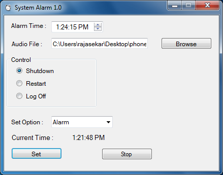 System Alarm
