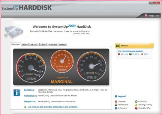 SystemUp Harddisk 2009