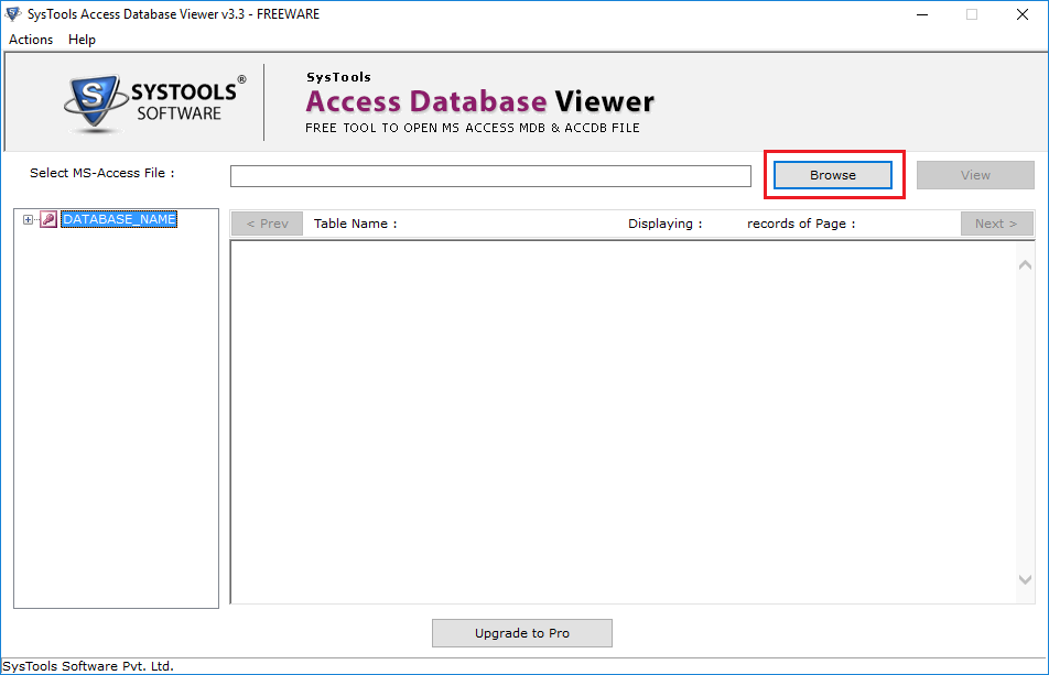 SysTools Access Database Viewer