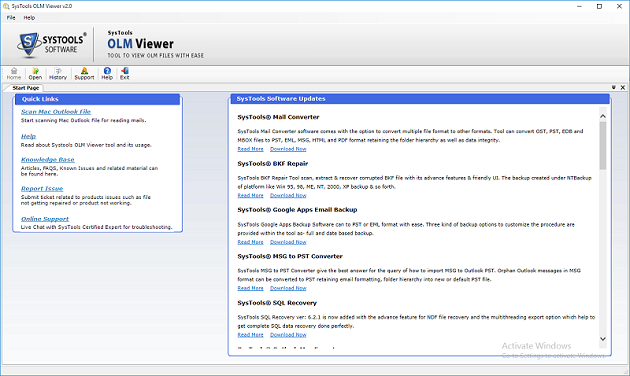 SysTools OLM Viewer Freeware
