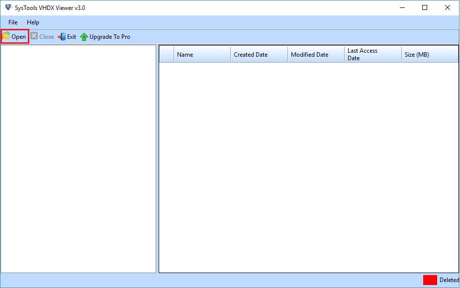 SysTools VHDX/VHD Viewer