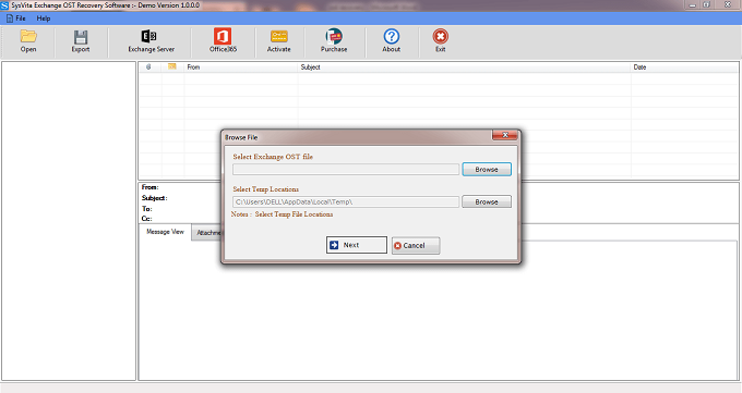Sysvita Exchange OST Recovery Software