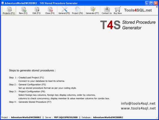 T4S Stored Procedure Generator